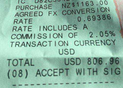 Dynamic currency conversion